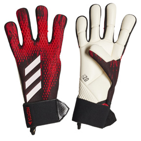 adidas  Predator  20 Competition Goalie Glove (Black/Active Red)
