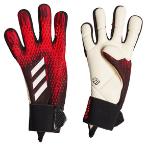 adidas Youth  Predator 20 Pro Soccer Goalie Glove (Black/Active Red)