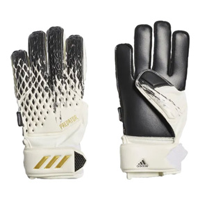 adidas Youth  Predator 20 Match Fingersave Goalie Glove (White/Black)
