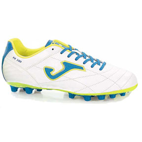 Joma Fit 100 FG Soccer Shoes (White/Blue)