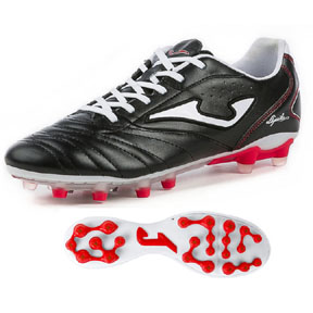 Joma Aguila Gol AG Soccer Shoes (Black/White/Red)