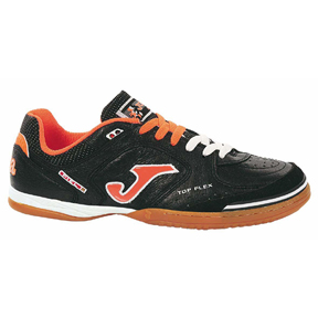 Joma Top Flex Futsal / Indoor Soccer Shoes (Black/Orange)