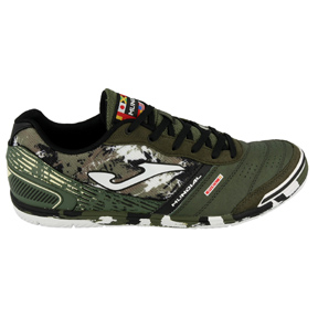 Joma Mundial 823 Indoor Soccer Shoes (Camouflage/Green)