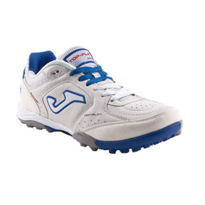 Joma Top Flex Turf Soccer Shoes (White/Royal)