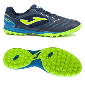 Joma  Liga 5 Turf Soccer Shoes (Navy/Bright Green)