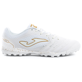 Joma  Liga 5 902 Turf Soccer Shoes (White/Gold)