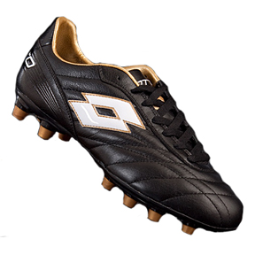 Lotto Stadio Classic FG Soccer Shoes (Black/Gold)