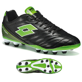 Lotto Stadio 300 FG Soccer Shoes (Black/Mint)