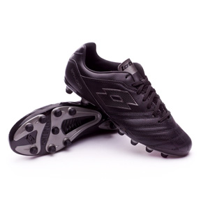 Lotto  Stadio 300 II FG Soccer Shoes (Black/Silver)