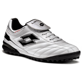 Lotto Stadio Suprema Turf Soccer Shoes (White/Black)
