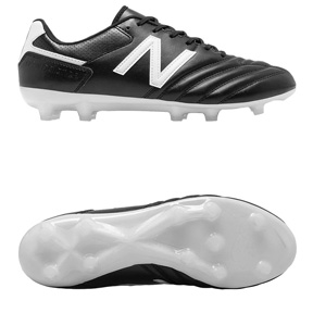 New Balance 442 Team FG Soccer Shoes (Black/White)