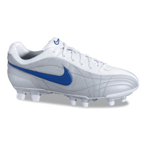 Nike Womens Air Legend FG Soccer Shoes (Silver/Blue)