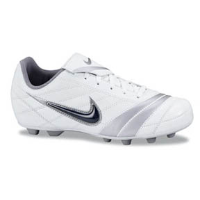 Nike Youth Premier FGR Interchangeable Soccer Shoes (White)