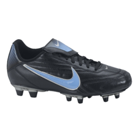 Nike Womens Premier II FG Soccer Shoes (Black/Light Blue)