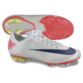 Nike Youth Mercurial Vapor VII FG Soccer Shoes (Granite/Red)