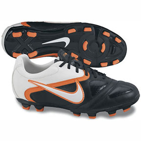 Nike Youth CTR360 Libretto II FG Soccer Shoes (Black/Orange)