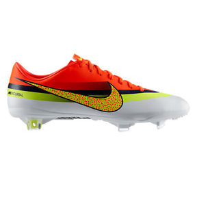 Nike CR7  Ronaldo Mercurial Vapor IX FG Soccer Shoes (White/Volt)