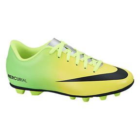 Nike Youth Mercurial Vortex FG-R Soccer Shoes (Vibrant Yellow)