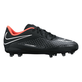 Nike Youth HyperVenom Phelon FG Soccer Shoes (Black/Hyper Punch)