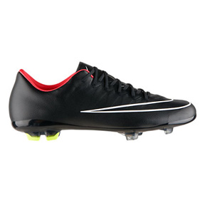 Nike Youth Mercurial Vapor  X FG Soccer Shoes (Black)