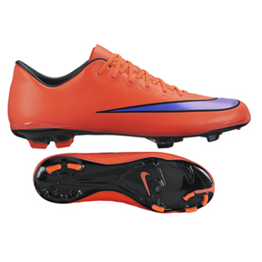 4d92f560bd88d Nike Youth Mercurial Vapor X FG Soccer Shoes (Bright Crimson ...