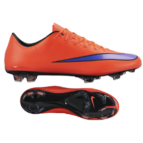 Nike Mercurial Vapor  X FG Soccer Shoes (Bright Crimson)