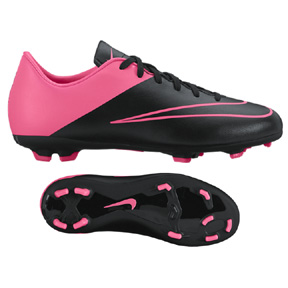 Nike Youth Mercurial Victory V FG (Black/Pink)