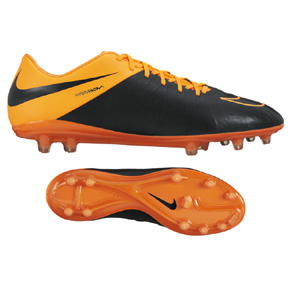 Nike HyperVenom  Phinish II Leather FG Soccer Shoes (Orange)