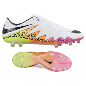 Nike HyperVenom Phinish II FG Soccer Shoes (White/Multi)