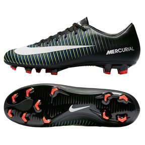 Nike Mercurial Victory  VI FG Soccer Shoes (Black/Electric Green)