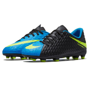 Nike Youth HyperVenom Phade III FG Soccer Shoes (Black/Photo)