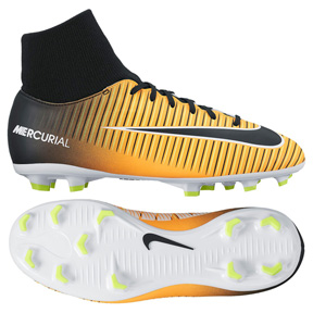 Nike Youth  Mercurial Victory  VI DF FG (Laser Orange/Black)
