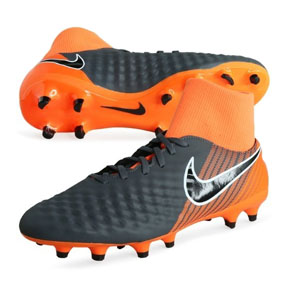 Nike Magista Obra II Academy DF FG Soccer Shoes (Grey/Orange)