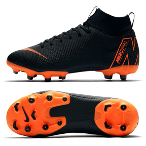 Nike Youth Superfly 6 Academy MG Soccer Shoes (Black/Orange)