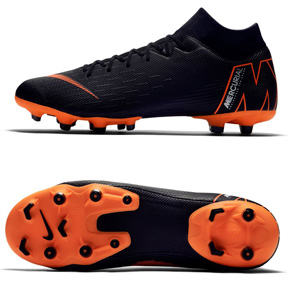 Nike Superfly 6 Academy MG Soccer Shoes (Black/Orange)