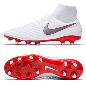 Nike Magista Obra II Academy DF FG Soccer Shoes (White/Red)