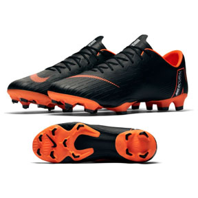 Nike  Mercurial Vapor XII Pro FG Soccer Shoes (Black/Total Orange)