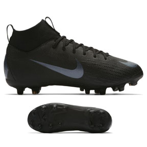 Nike Youth Superfly 6 Academy MG Soccer Shoes (Black)