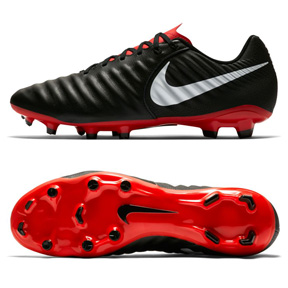 Nike Tiempo Legend 7 Academy FG Soccer Shoes (Black/Crimson)