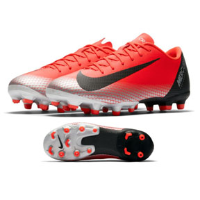 Nike Youth  CR7  Vapor 12 Academy MG Soccer Shoes (Solar Red)