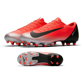 Nike CR7 Ronaldo Vapor 12 Academy MG Soccer Shoes (Red)
