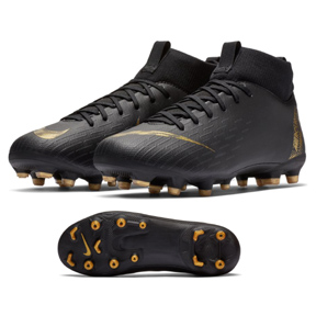 Nike Youth Superfly 6 Academy MG Soccer Shoes (Black/Vivid Gold)