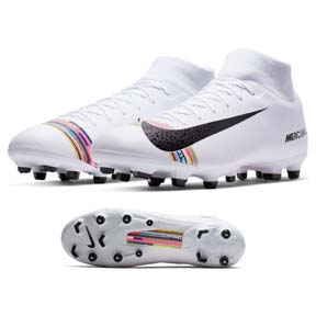 Nike  CR7   Ronaldo Superfly 6 Academy MG Soccer Shoes (White)