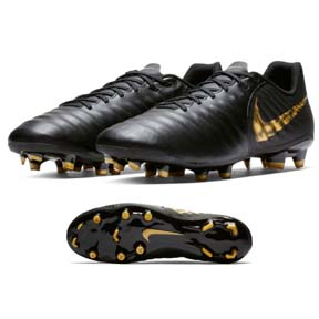 Nike  Tiempo Legend 7 Academy FG Soccer Shoes (Black/Gold)