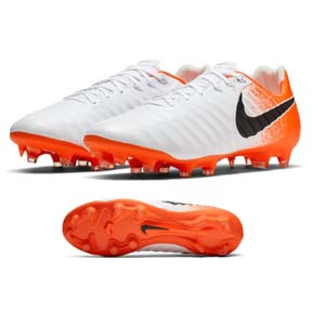 Nike  Tiempo Legend  7 Pro FG Soccer Shoes (White/Hyper Crimson)