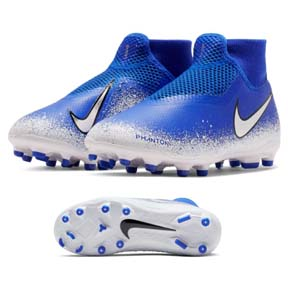 Nike Youth Phantom Vision Academy DF MG Soccer Shoes (Racer Blue)