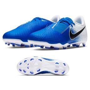 Nike Youth  Phantom Vision Academy FG Soccer Shoes (White/Blue)