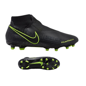 Nike  Phantom Vision  Academy DF MG Soccer Shoes (Black/Volt)
