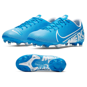 Nike Youth  Mercurial Vapor XIII Academy MG Soccer Shoes (Blue Hero)