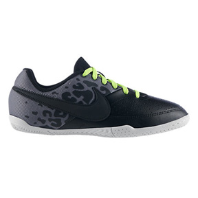 Nike Youth NIKE5 Elastico II Indoor Soccer Shoes (Black/Gray)